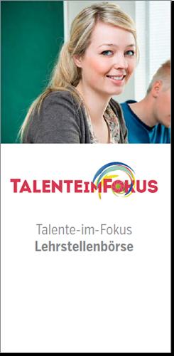 Unser neuer Talente im Fokus-Flyer